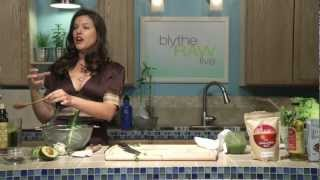 How To Make Raw Vegetable Soup - Blythe Raw Live