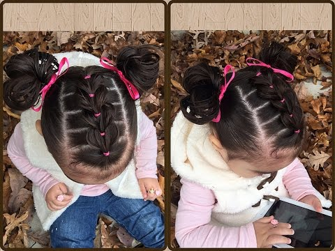 Trenza Pull Through Con Ligas Y Coletitas Para Ninas Peinados