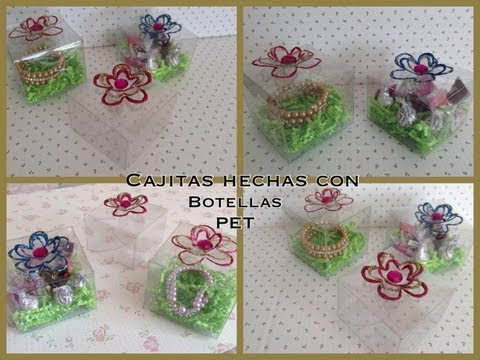 CAJITAS PARA REGALO HECHAS CON BOTELLAS PET . Videos De Viajes