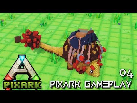 PixARK: IRON DRILL DOEDICURUS & DILO TAMING ALPHA TRIBE E04 !!! ( Pix ARK GAMEPLAY )