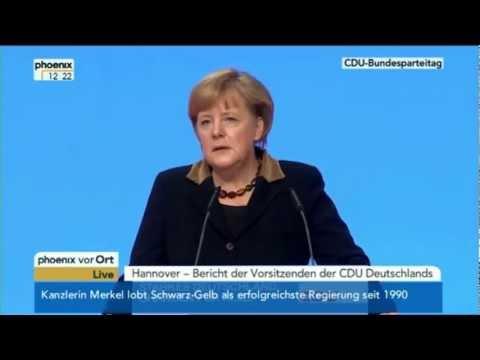 Angela Merkel erwähnt Aramäer, Bundesparteitag der CDU am 4.12.2012