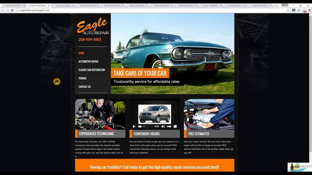 Hibu Auto Repair websites - YouTube