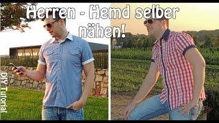 HERREN HEMD - NÄHEN FÜR MÄNNER   DIY   Nähen für Anfänger   Tutorial