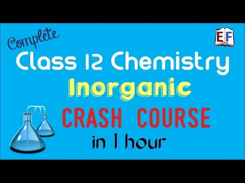 Crash Course Class 12 Chemistry (Inorganic ) Revision