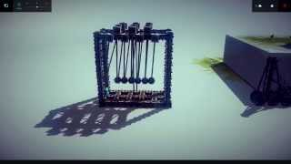 Besiege: Newton's Cradle Proof Of Concept