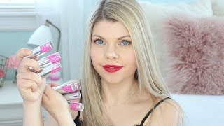 Fitglow Beauty Lip Colour Cream Swatches & Review of all 7 Shades