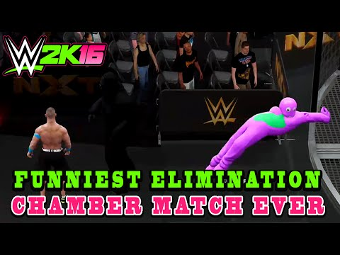 WWE 2K16 - FUNNIEST Elimination Chamber Match EVER!
