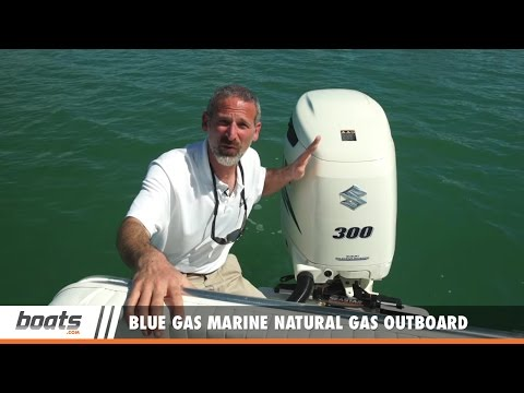 Blue Gas Marine Natural Gas Outboard: First Look Video