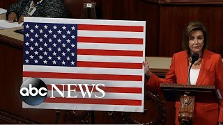 Nancy Pelosi delivers remarks at House impeachment debate