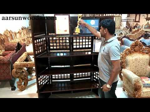 Easy DIY Space Saving Ideas- Portable Room Divider cum Bookshelf - Wooden Furniture - Aarsun Woods