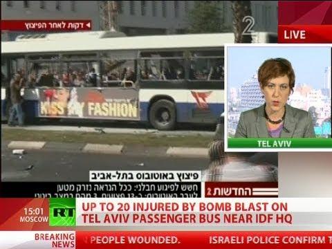 Tel Aviv Bus Bombing: Explosion rocks Israeli city center