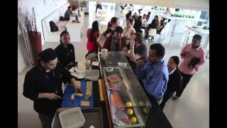 SUSHI COUNTER ROLLS INTO ITP