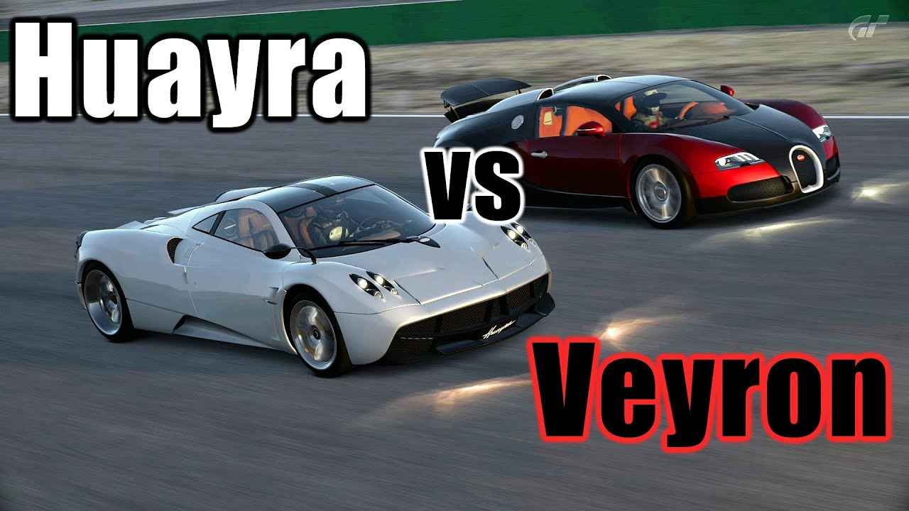 gt6 rival battles pagani huayra vs bugatti veyron 16 4. Black Bedroom Furniture Sets. Home Design Ideas