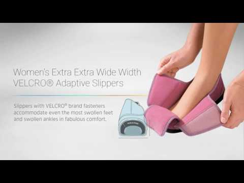 Silvert's 10100 - Women's Extra Extra Wide Velcro® Slippers Video