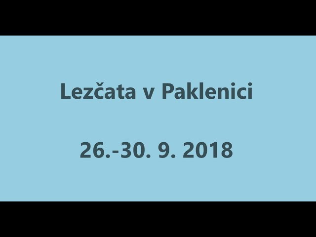 Lezčata v Paklenici 2018