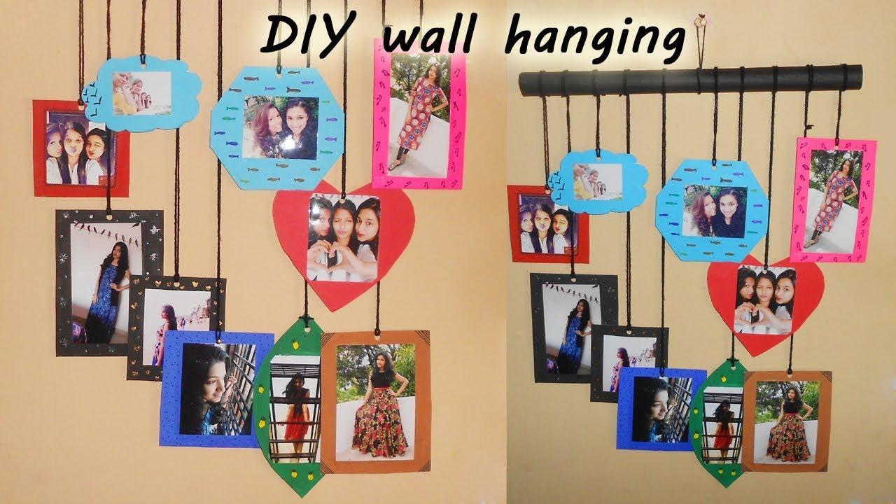 How To Make Photo Wall Hanging Diy Recycling Cardboard Niya