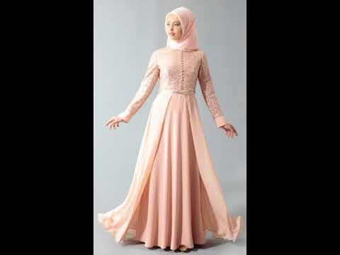 Desain Baju Muslim Gamis Brokat Terbaru 2017