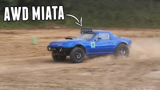 homepage tile video photo for The FIRST RALLYCROSS Event in the AWD MIATA!