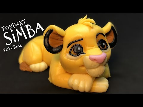 Simba - The Lion King   fondant animals tutorial