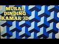 Mural dinding motif balok 3D