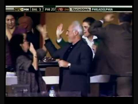 Philadelphia Eagles Owner Jeff Lurie Hi-Fives His Wife's Face