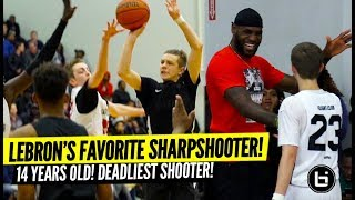 Gabe Cupps Highlights! LeBron James Favorite Sharpshooter is Just 14 Years Old?!