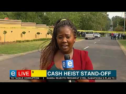 Cash in transit heist stand off