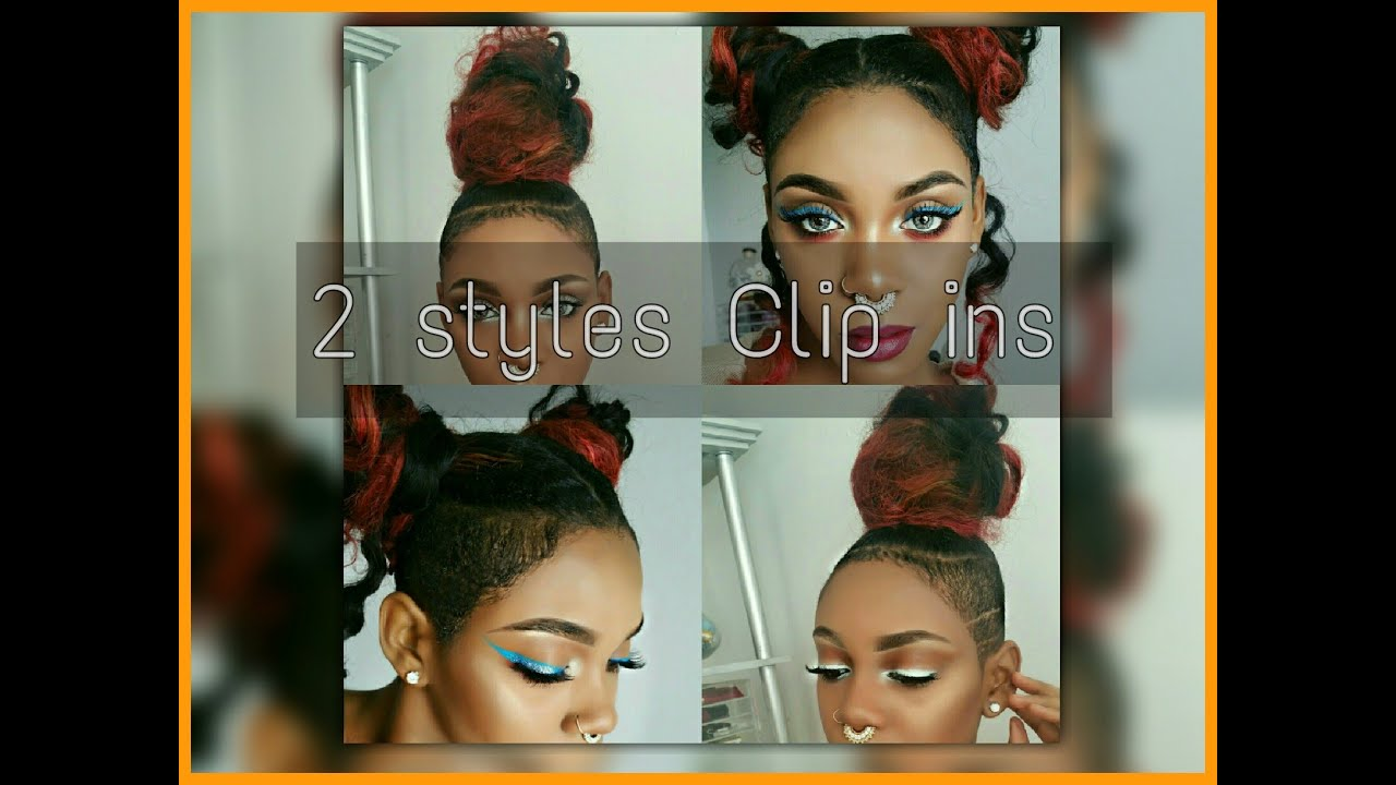 Space Buns And Top Knots With Clip Ins For Shaved Sides