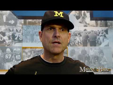 Harbaugh discusses Patterson, first spring practice