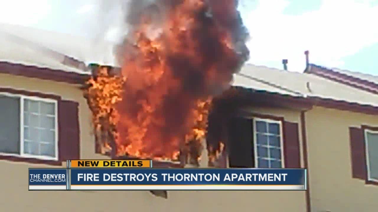 Fire destroys Thornton apartment - YouTube