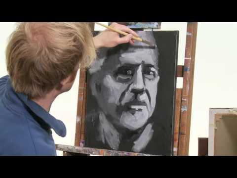 Ein 10 Minutenporträt Malen mit zwei Farben –  Portrait in schwarz-weiß