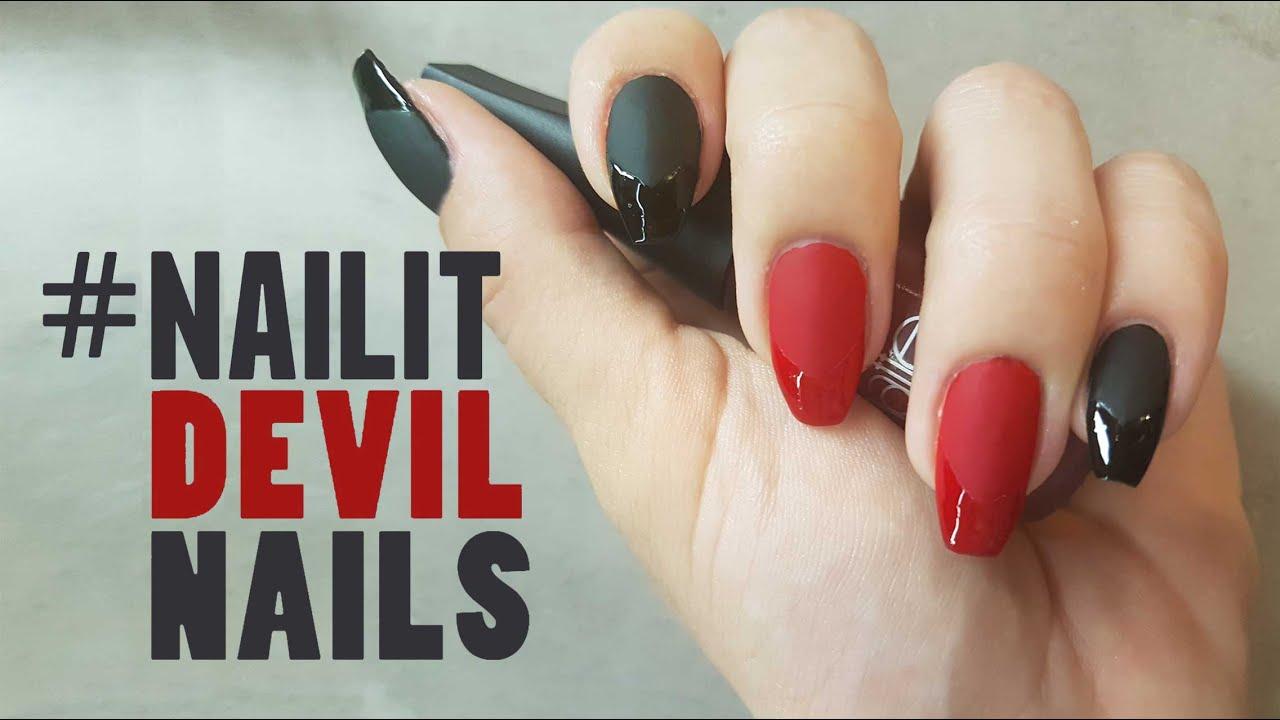 Nailit devil nails nail art youtube nailit devil nails nail art prinsesfo Choice Image