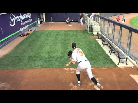 Thumbnail: Ubaldo Jiménez pre-game bullpen warmup at Yankee Stadium (9/9/15)