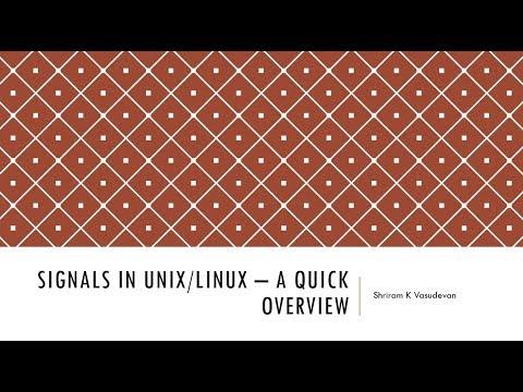 Signals in Linux/Unix