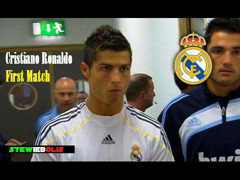 Cristiano Ronaldo ● First Match for Real Madrid ● HD #CristianoRonaldo