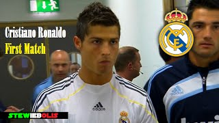 Cristiano Ronaldo  First Match for Real Madrid  HD CristianoRonaldo