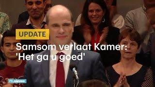 Diederik Samsom: 'Ik maak een buiging en stap van het podium'