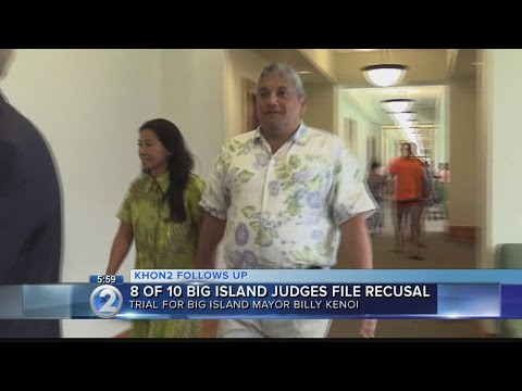 Judges recuse themselves from Hawaii mayor