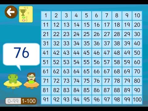 Aprender Números Del 1 Al 100 En App Matemáticas