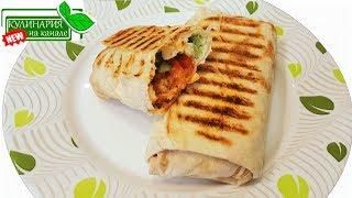 видео Шаурма с курицей и овощами