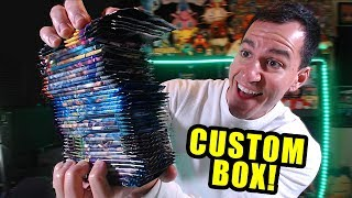 *CUSTOM POKEMON CARDS BOOSTER BOX!* Opening Pokemon Box With A LOT of Packs!