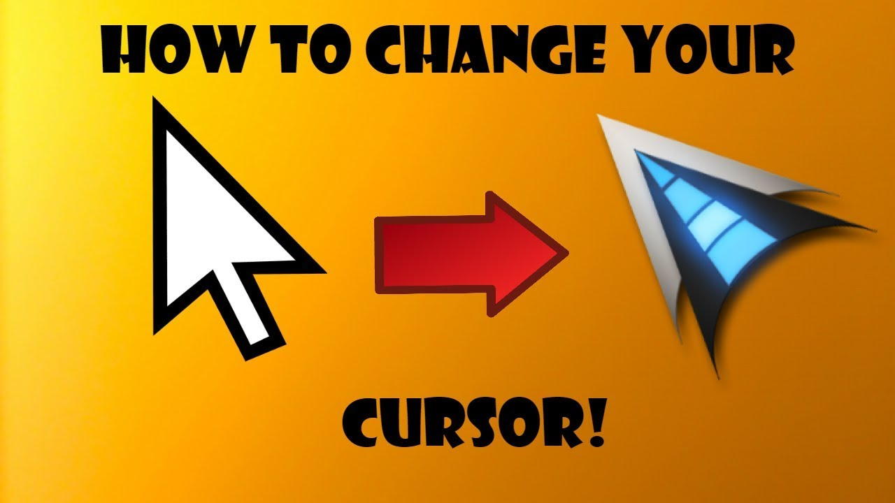 How To Change Your Cursor - Windows 10 - 2019! (NO DOWNLOAD ...