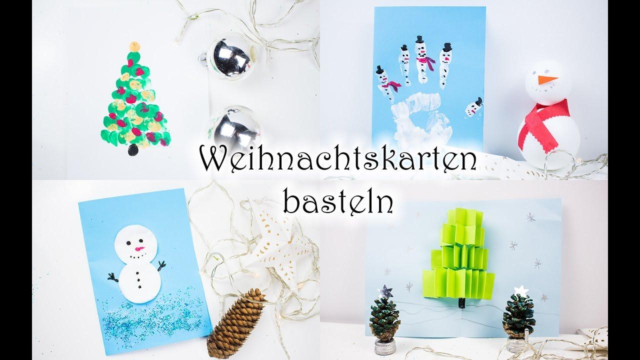 Weihnachtskarten Basteln Mit Kleinkindern.Weihnachtskarten Basteln Mit Kindern 5 Schnelle Ideen Video