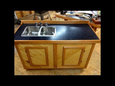free standing camp sink cabinet project - Kitchen Sink Cabinets