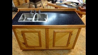 Free Standing Camp Sink Cabinet Project