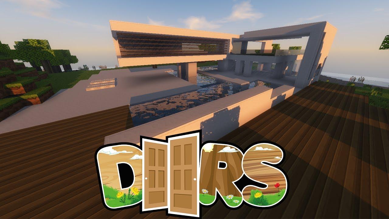 Mein modern futuristisches haus doors 10 minecraft doors youtube - Minecraft haus modern ...