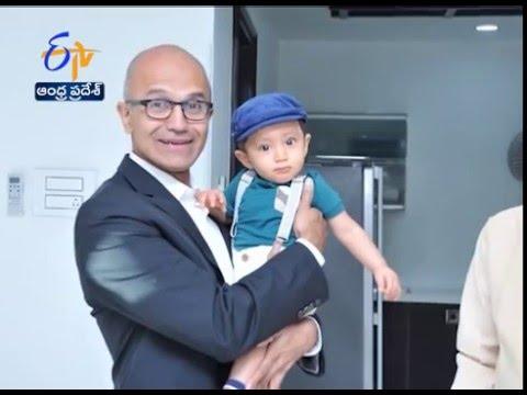 Microsoft CEO Satya Nadella Spends Time With Chandrababu Family
