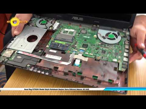 Asus Rog G750JH Model Güçlü Notebook Baştan Sona Sökümü Bakımı Macun Yenileme 4K UHD