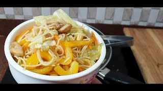 Cooking Chicken Chowmein/How to cook restaurent like chicken chowmein at home/
