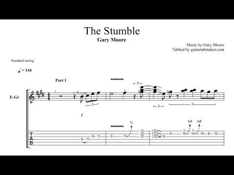Gary Moore - The Stumble TAB - blues solo tab - PDF - Guitar Pro